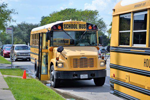 School Buses, Houston Texas, Teachers, Students