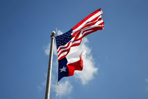 Texas Flag, American Flag, Houston, Texas, Irma Relief‎