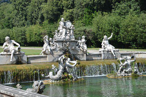 Fountains, The Royal Palace Of Caserta, Italy