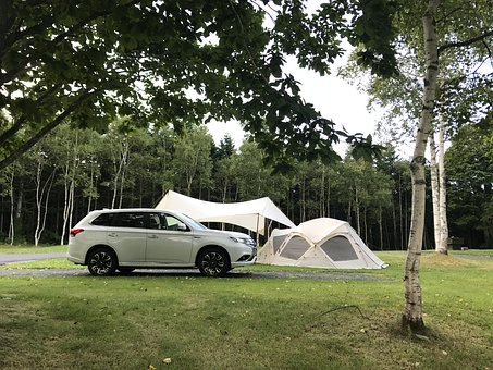 Camping, Tent, Electric Vehicles, Outdoors, Dome, Woods