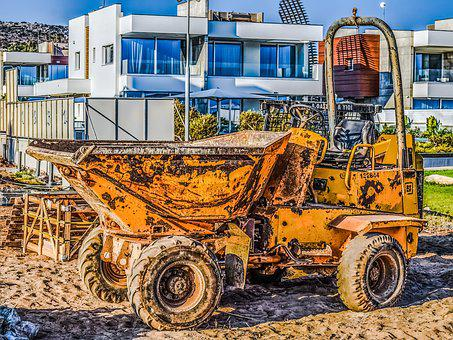 Construction Site, Machinery, Vehicle, Yellow
