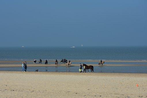 Beach, Reiter, North Sea, Sand Beach, Water, Ride