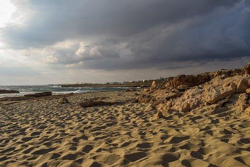 Beach, Sand, Sky, Clouds, Cloudy, Stormy, Nature, Sea