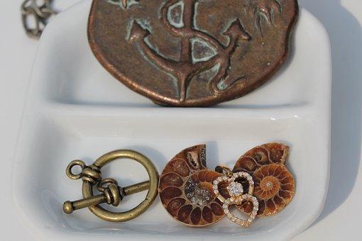 Art, Craft, Beads, Necklace, Bronze, Brown, Shell