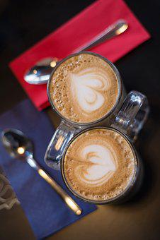 Coffee, Cappuccino, Café, Closeup, Drink, Coffee Cup