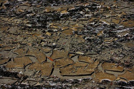 Ground, Arid, Cracked, Drought