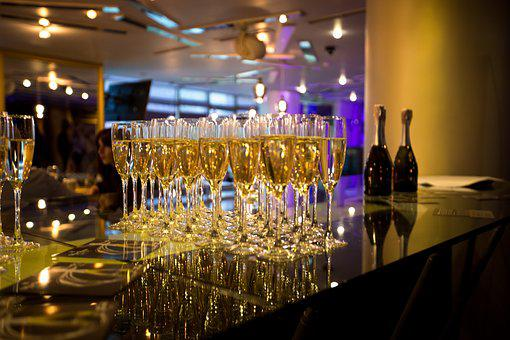 Champagne, Party, Banquet, Alcohol, Drink, Evening
