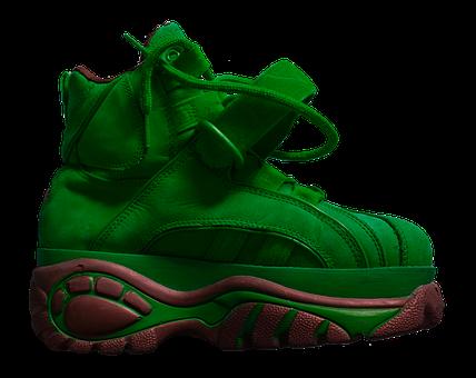 Shoe, Platform Shoe, Sole, High, Buffalo, Green