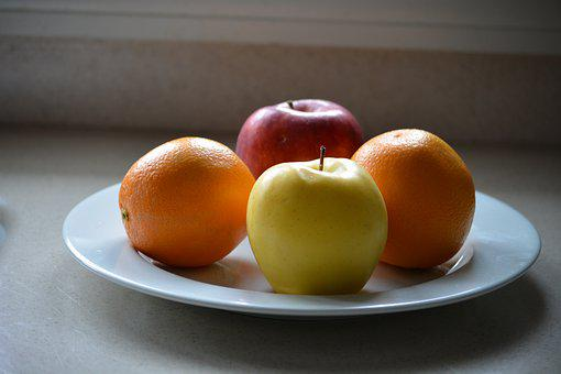 Apple, Orange, Food, Fruit, Fresh, Healthy, Diet, Juicy
