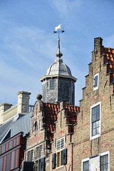 Vlissingen, North Sea, Westerschelde, Summer, Homes