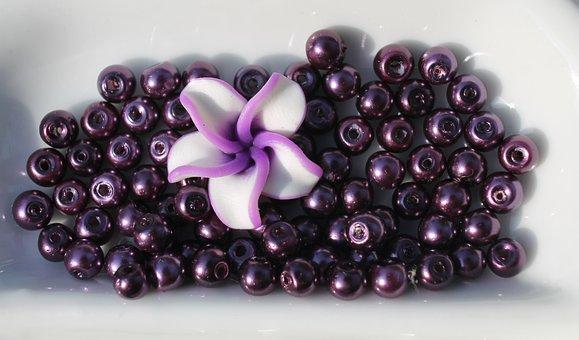Art, Craft, Beads, Necklace, Purple, Grape