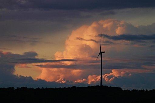 Clouds, Wind Power, Pinwheel, Sky, Wind Energy