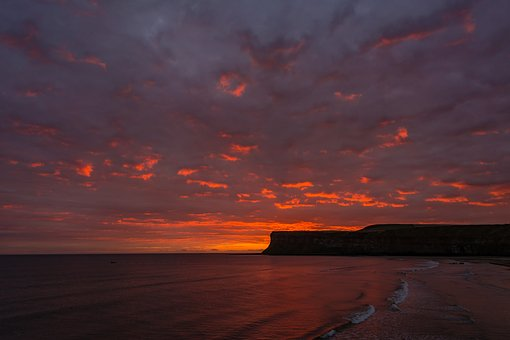 Saltburn, First Light, Sunrise, Seascape
