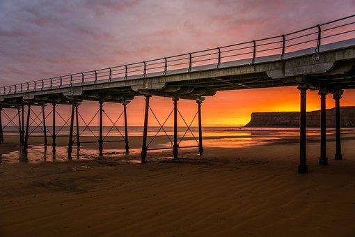 Saltburn, First Light, Sunrise, Seascape, Pier