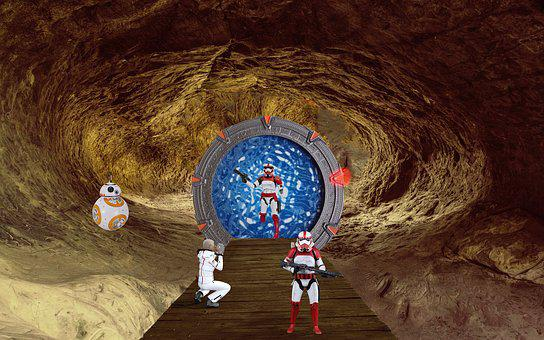 Fantasy, Cave, Science Fiction, Stargate, Photo Montage