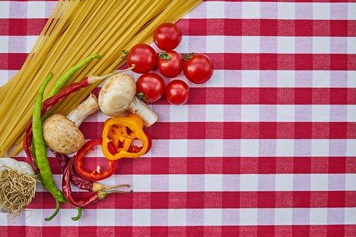 Pasta, Spaghetti, Tomato, Food, Garlic, Onion, Pepper