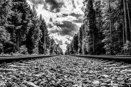 Rail, Track, Railway, Railroad Tracks, Railway Rails