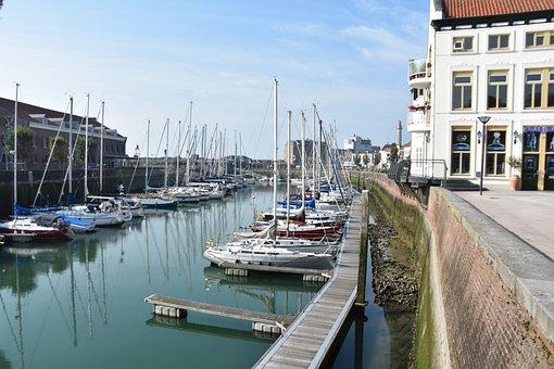 Marina, Vlissingen, North Sea, Westerschelde, Summer