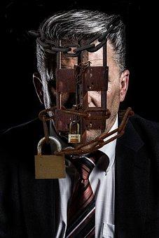 Business, Man, Lock, Bar, Prison, White Collar, Fraud