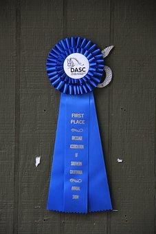 Blue Ribbon, Horse Show Ribbon, Award