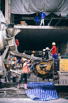 Truck, Working, Sand, Mortar, Base, Builder