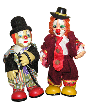 Clowns, Circus, Colorful