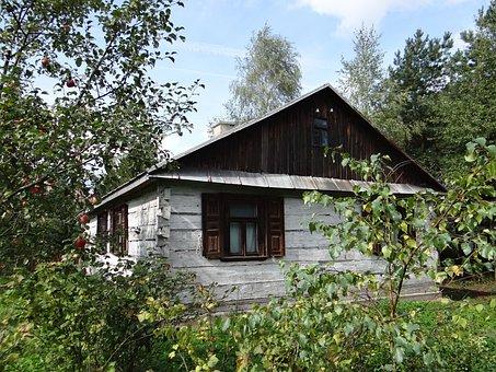 Cottage, Garden, Vesnice, Tree, Sad, Apples