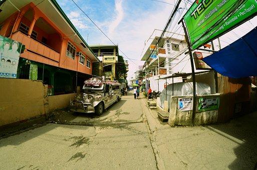 Puerto Galera, Philippines, Wide Lens, Fisheye, Jeepney