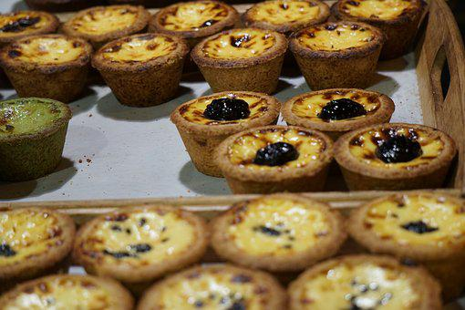 Egg Tart, Dessert, Food, Sweet, Delicious, Pie, Egg
