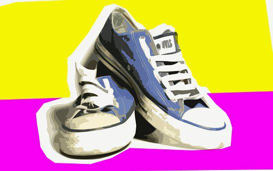 Shoes, Footwear, Man Shoes, Rubber, Fabric, Pop Art