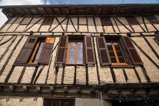 House, Medieval, Lautrec, Tarn, Occitania, France