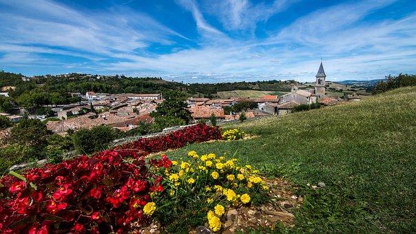 Lautrec, Mesieval, Village, Tarn, Occitania, France