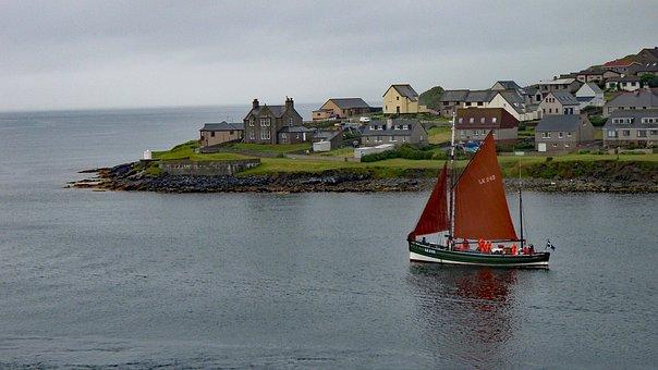 Lerwick, Shetland, Scotland, Island, Sailboat, Coastal