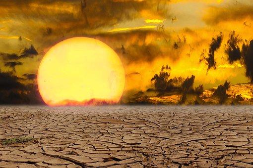 Landscape, Nature, Sunset, Climate Change, Drought