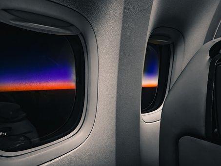 Sunrise, Airplane, Night, Travel, Sky, Flight, Plane