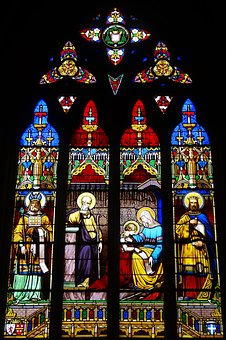 Stained Glass Windows, Colors, Church, Religion