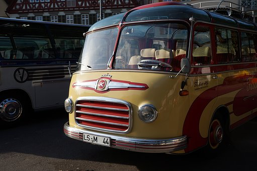 Setra S6, Bus, Coach, Oldtimer, Front, Historically