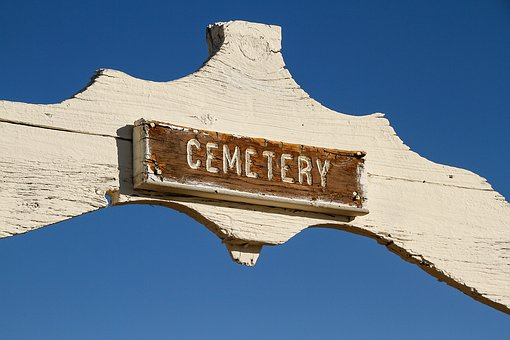 Sign, Wood, Old, Death, Cemetery, Spooky, Burial, Rip
