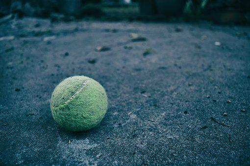 Tennis Ball, Tennis, Soil