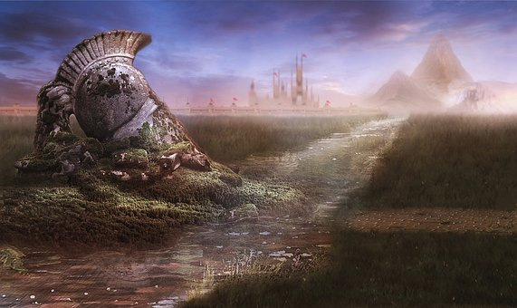 Matte Painting, Stock Background, Painting, Fantasy