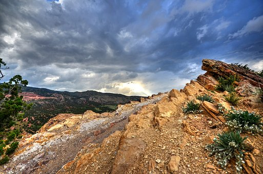 Ridge Line, Ridge, Mountain, Range, Usa, Wild, America
