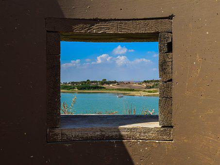 Window, Observation Post, Watching, Observe, Lake