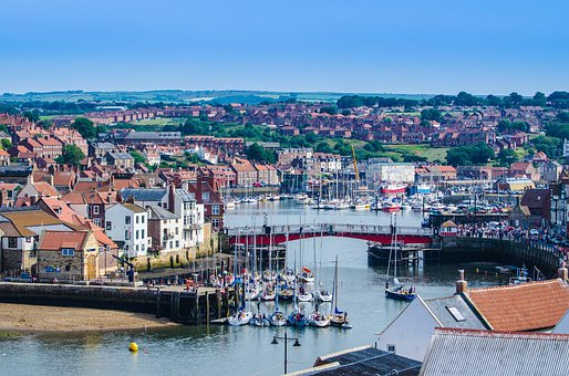 Coast, Town, Abbey, Seaside, North, Seafront, England