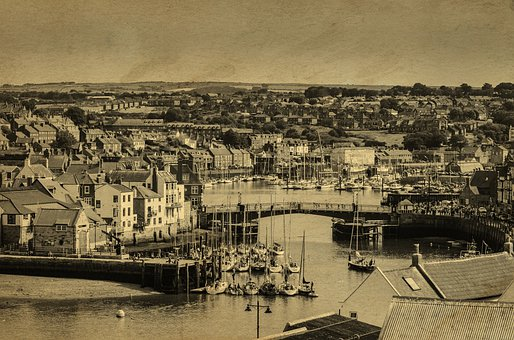 Harbour, Ship, Ships, Coast, Town, Abbey, Seaside