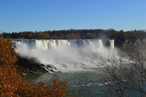 American Falls, Niagara Falls, Waterfalls, Water