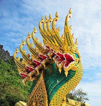 Dragon, Ancient Ancient Animals, Architecture, Buddha
