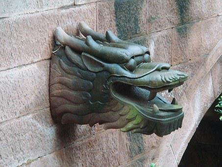 Stone, Dragon, Sculpture, Statue, Ancient, Chinese