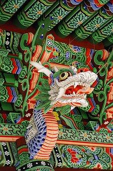 Dragon, Temple, Asia, Religion, Culture, Architecture