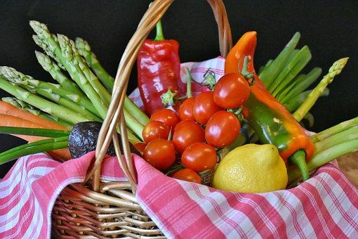 Vegetables, Asparagus, Tomatoes, Leek, Lemon, Paprika
