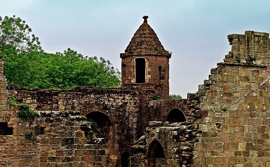 Ruins, Walls, Architecture, Background, History